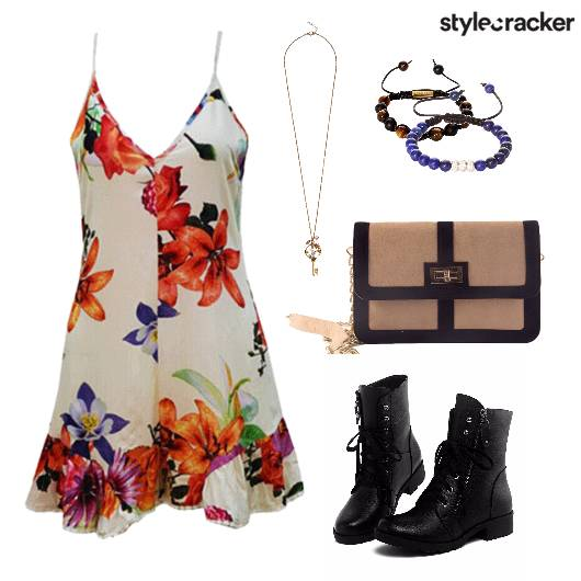 Floral Dress Boots Casual - StyleCracker