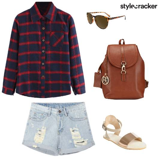Plaid Laidback Casual Shorts - StyleCracker
