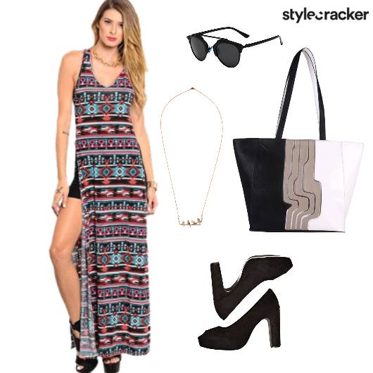 Maxi Dress Printed Vacation  - StyleCracker