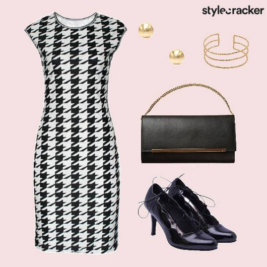 Houndstooth Dress Bodycon - StyleCracker