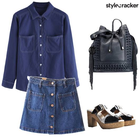 Denim Streetstyle Skirt  - StyleCracker