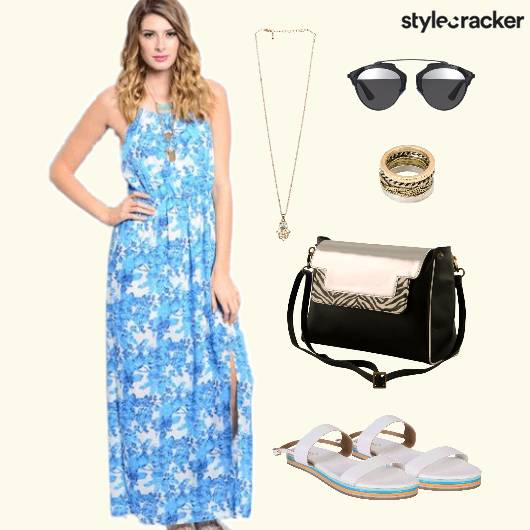 Maxi Dress Printed Casual - StyleCracker