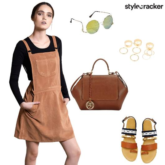 Overalls Tan Dress Suede - StyleCracker