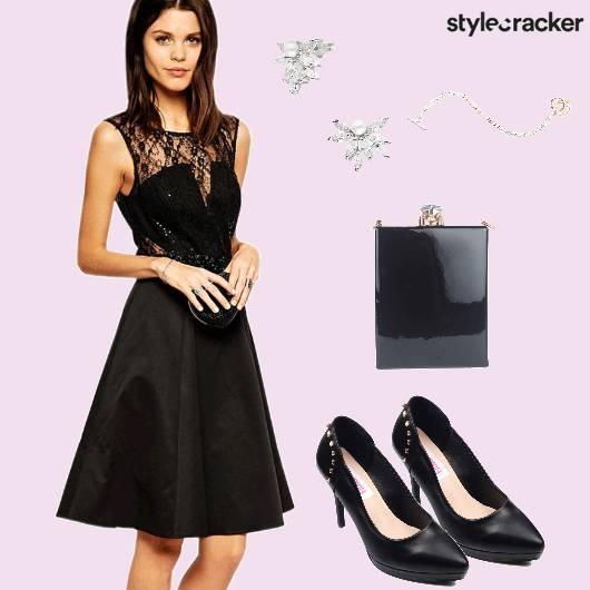 Black Dress Party Pumps - StyleCracker