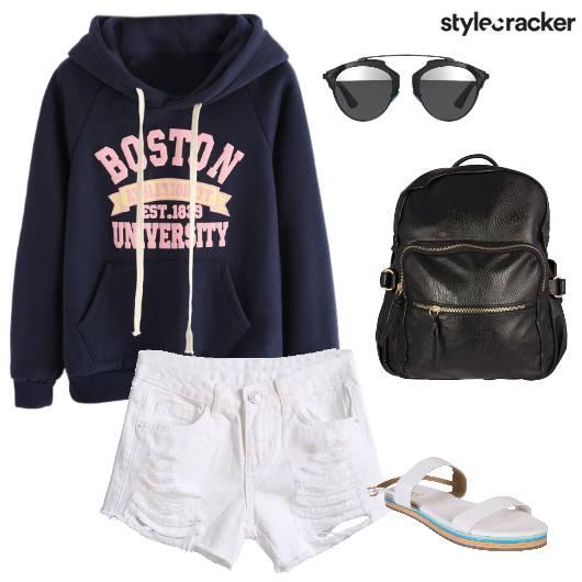 Casual Sweatshirt Shorts Dayout - StyleCracker