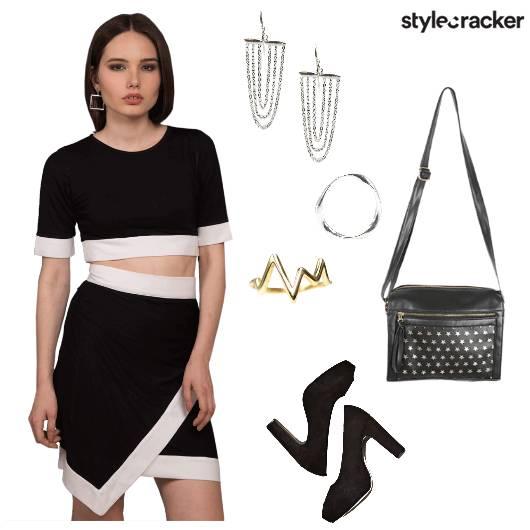 Co-ords Set Skirt Top Dinner - StyleCracker