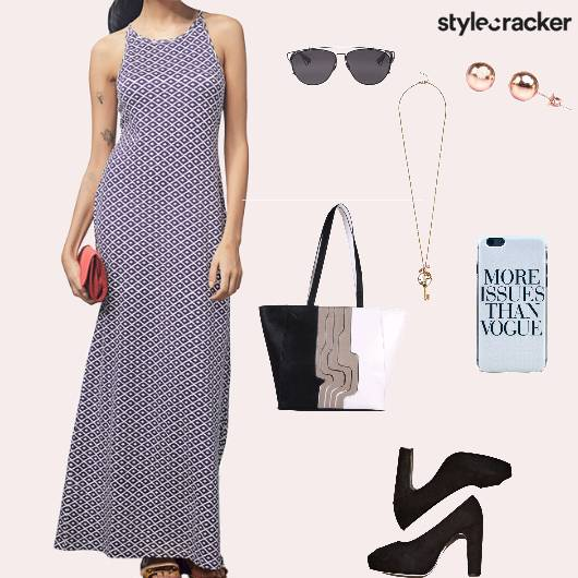 Maxidress Heels Handbag Casual - StyleCracker