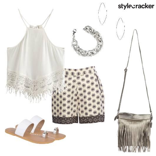 Shorts Crop Beach Casual  - StyleCracker