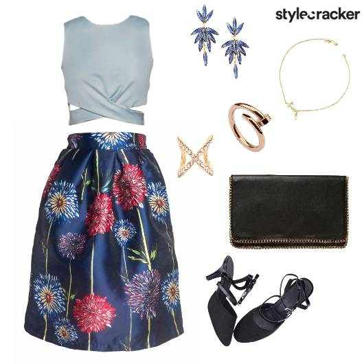 CropTop Skirt Event Night - StyleCracker