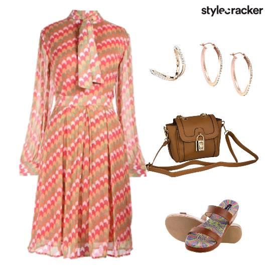 Printed Dress Strappy  - StyleCracker
