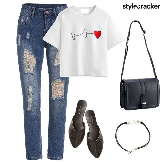RippedDenim Mules Casual  - StyleCracker