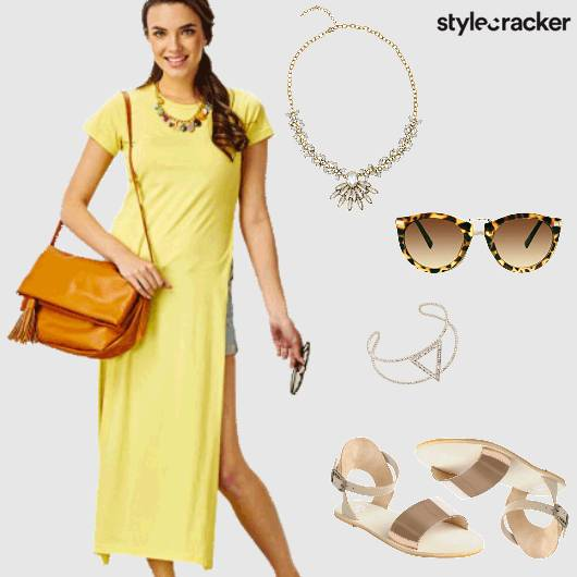 SideSlit Bright Casual  - StyleCracker