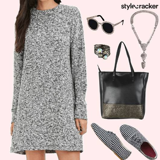 Casual College SweaterDress ToteBag  - StyleCracker