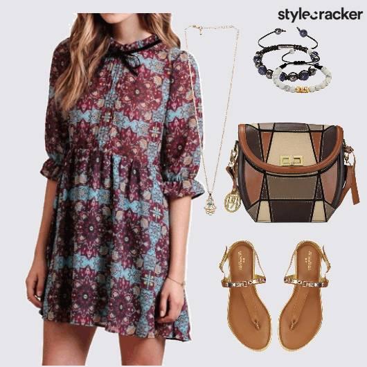 Printed Dress Casual  - StyleCracker