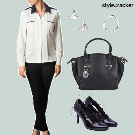 Monochrome Work Wear Shirt  - StyleCracker