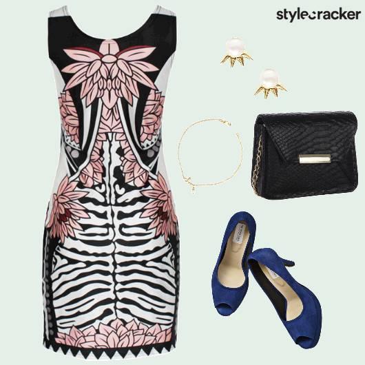 Floral Abstract Printed Dress Brunch  - StyleCracker
