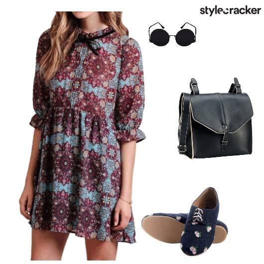 Boho Prints Dress Bow - StyleCracker
