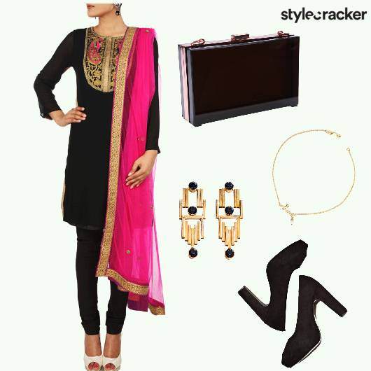 Kurti Chudidar Earrings Heels Anklet - StyleCracker