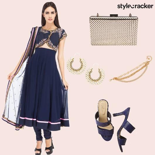 Cutout Anarkali Heels Bracelet  - StyleCracker