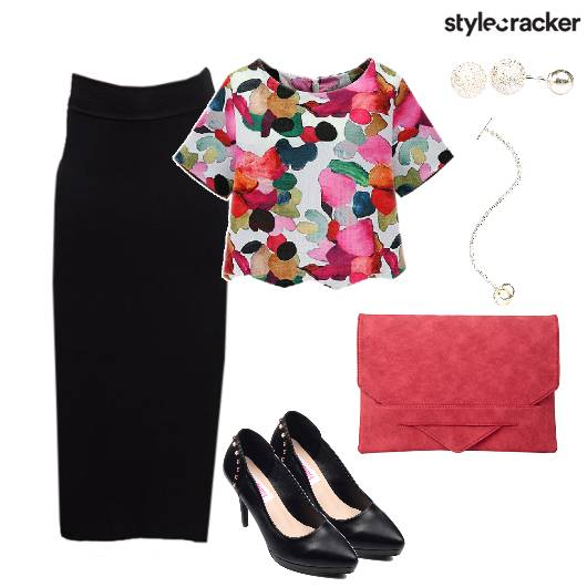 Skirt Floral Croptop Dinner Meeting - StyleCracker