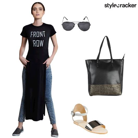 Casual Denim Tee Slogantee - StyleCracker