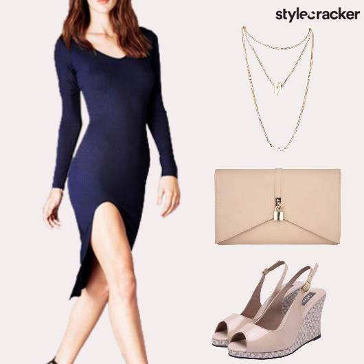 FullSleeves BodyconDress LayeredNecklace - StyleCracker