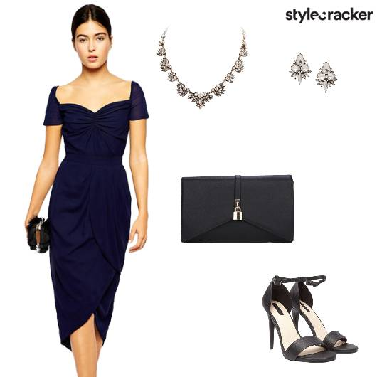 Nightout Formal Dress Navyblue - StyleCracker