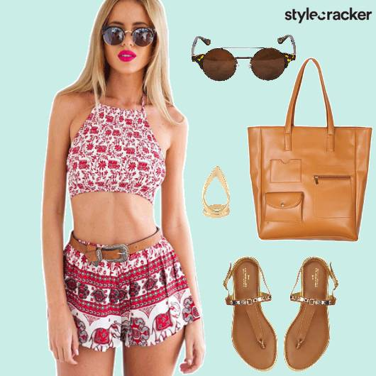 Vacation Thongflats Tote Sunglasses Printed Twinset  - StyleCracker