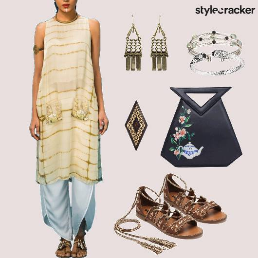 Indian Tiedye Fusion Casuals Festive  - StyleCracker
