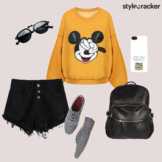 Sweatshirt Shorts Backpack Casual - StyleCracker