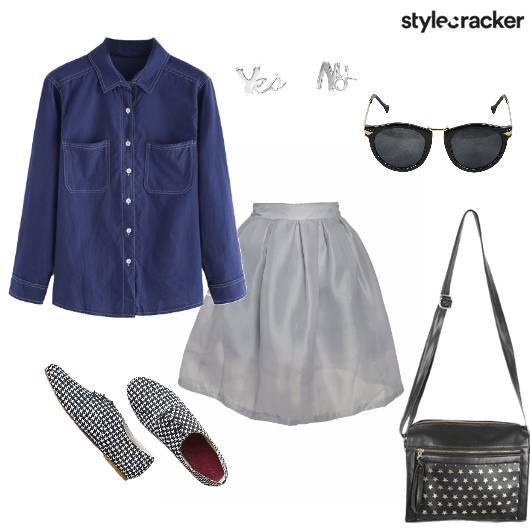 Denim Skirt Lunch DayWear - StyleCracker