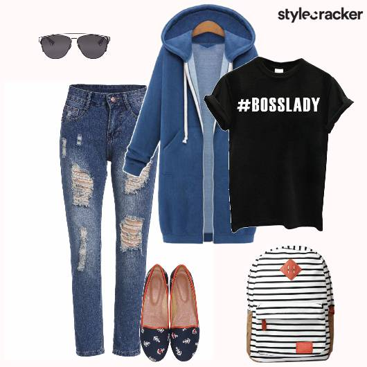 Casual Jeans Tshirt Backpack - StyleCracker
