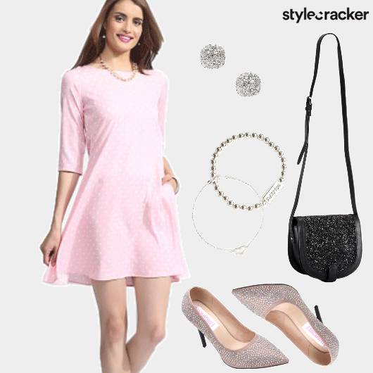 Dress PolkaDots Casual  - StyleCracker