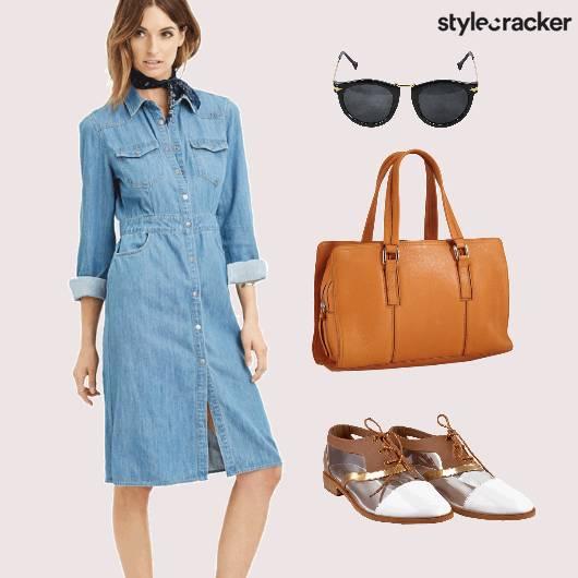 Denim Skirt Dress Casual  - StyleCracker