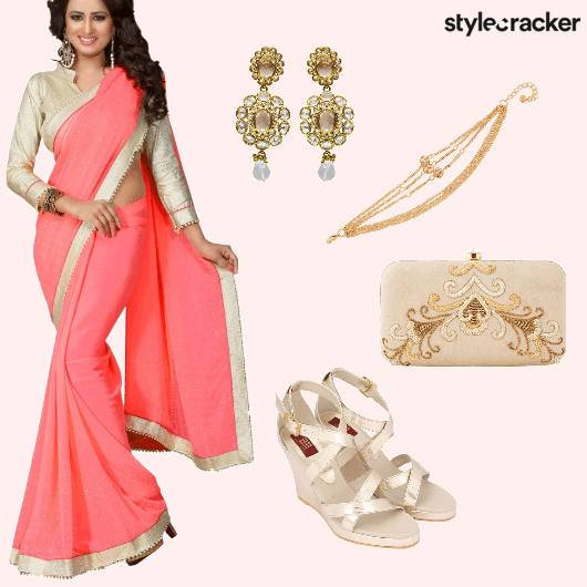 Saree Festive Indian  - StyleCracker