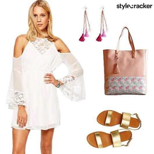 Beach Casual ColdShoulder Dress - StyleCracker
