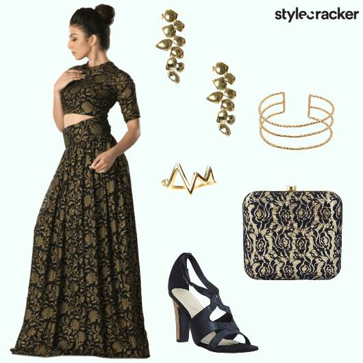 CurvyGirlChic Croptop Skirt Wedges Earrings - StyleCracker