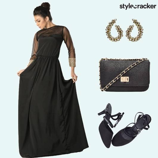CurvyGirlChic Gown Sling Earrings - StyleCracker