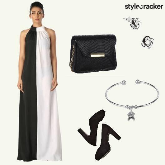 CurvyGirlChic Gown ColourBlocking Stilettos - StyleCracker