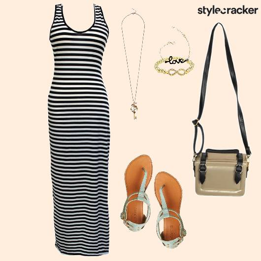 Striped Maxi Pastel Flats Casual  - StyleCracker