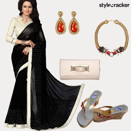 Saree Wedding Reception  - StyleCracker