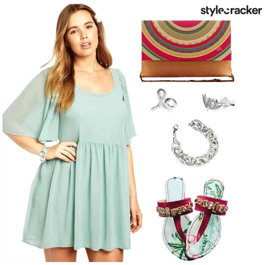 CurvyGirlChic Dress BrunchDate Flats - StyleCracker