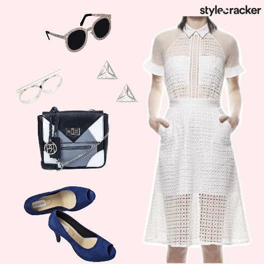 Lunch SheerDress ContrastAccessories - StyleCracker