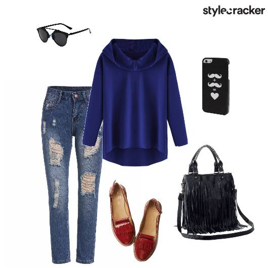 Sweater Jeans Fringebag Casual - StyleCracker