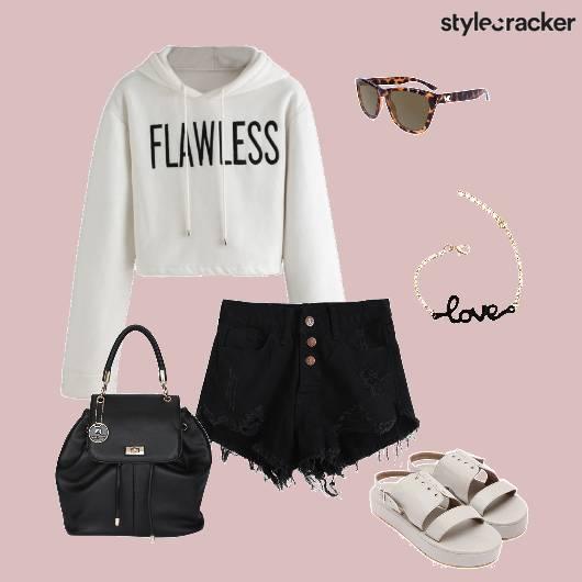 Sweatshirt Shorts Backpack Casual - StyleCracker