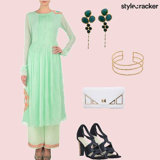 Suits Heels Clutch Ethnic - StyleCracker