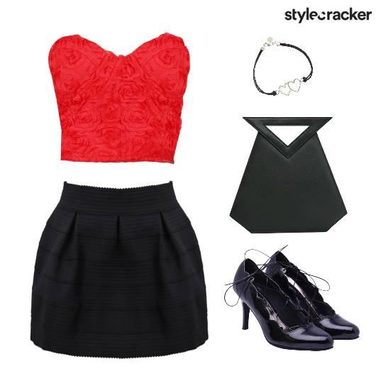 CropTop Skirt Appliques Shoes Bag - StyleCracker