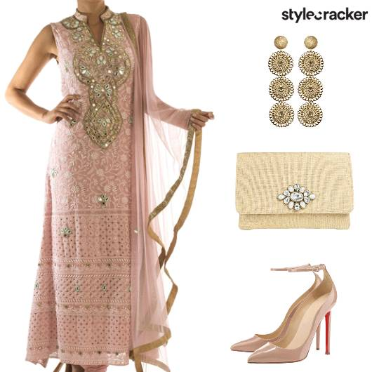 Festive Indian StraightSuit - StyleCracker