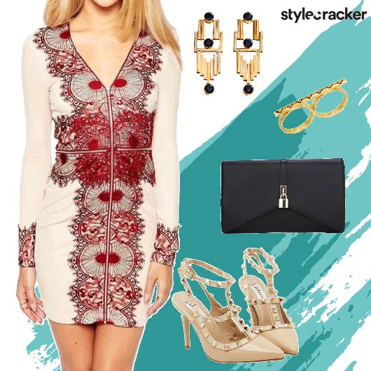 Bodycon StuddedHeels Earrings  - StyleCracker