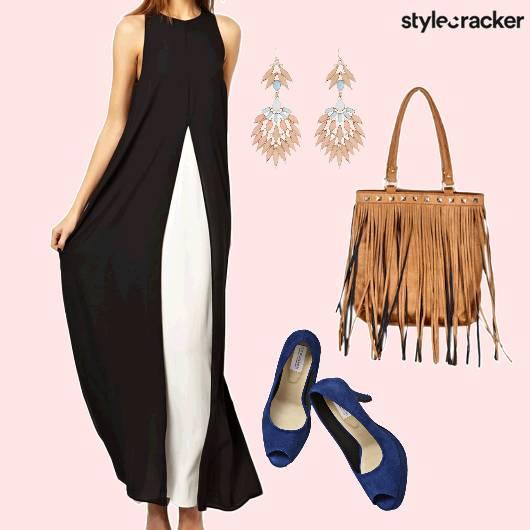 MaxiDress Black&White PeepToes  - StyleCracker
